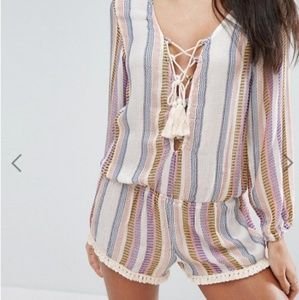 Surf Gypsy lace up beach romper